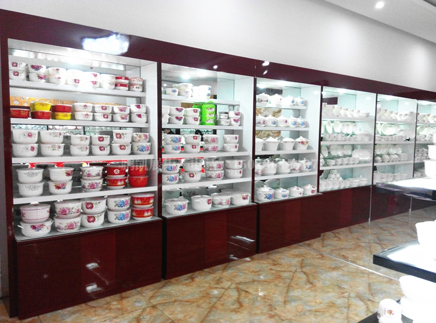 重庆碗店展示柜 重庆餐具展示柜