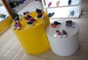 重庆童鞋展柜 童鞋高低展示台