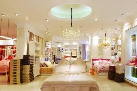 重庆白色烤漆床品展示柜