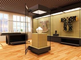 重庆博物馆展柜立式
