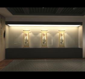 重庆博物馆沿墙高柜