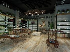 重庆网红鞋店设计 鞋店装修 鞋店展柜制作