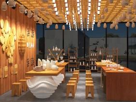 陶艺餐具展厅设计