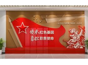 红色教育文化墙